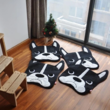 Boston terrier shaped floor rug thumb